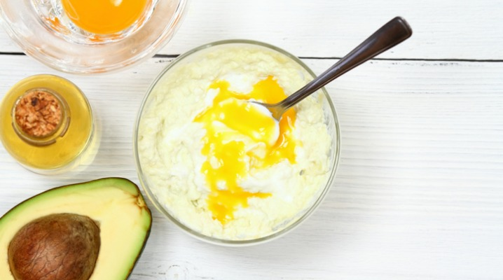 avocado-olive-oil-yogurt-and-egg-yolk-for-hair-mask-picture-id960333666